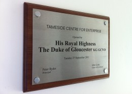 HRH Duke of Gloucester Plaque