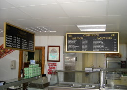 Interior Menu Sign