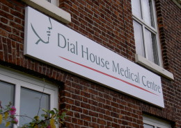 Fabricated Tray Sign at Dial House Medical Centre