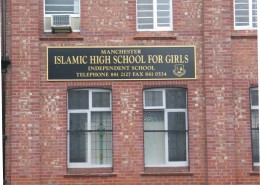 Sign for Local Islamic High School