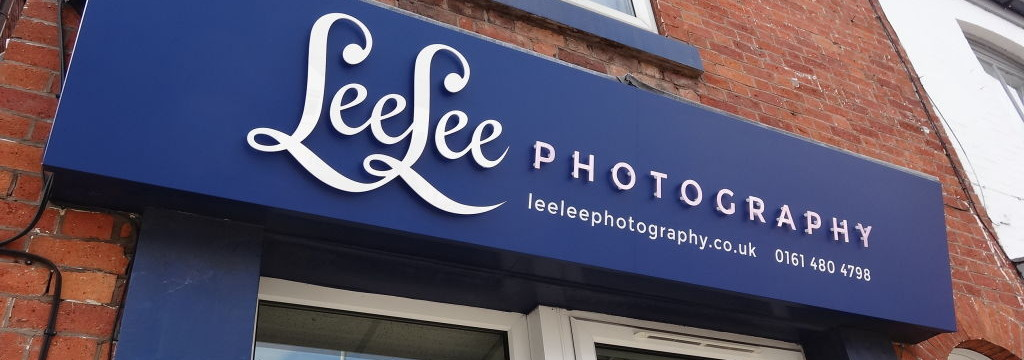 fabricated signage for lee lee photography